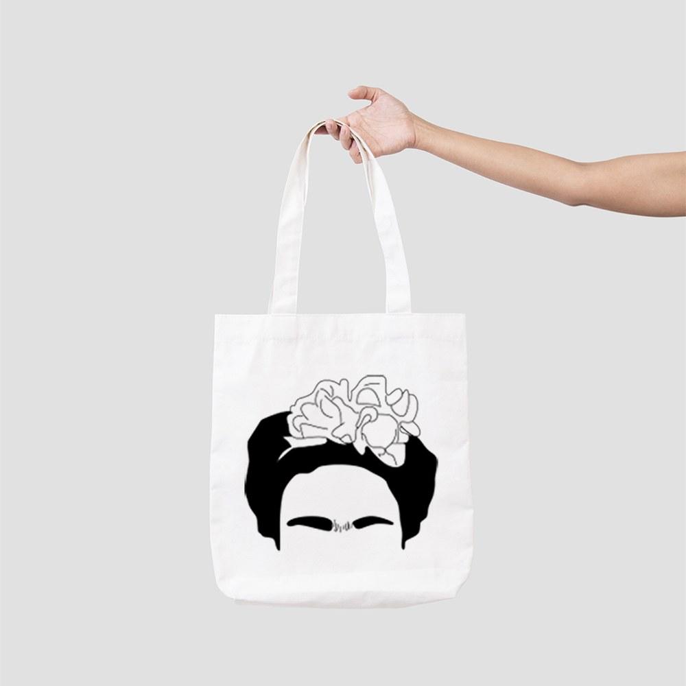 Faces of Frida Kahlo Canvas Bag