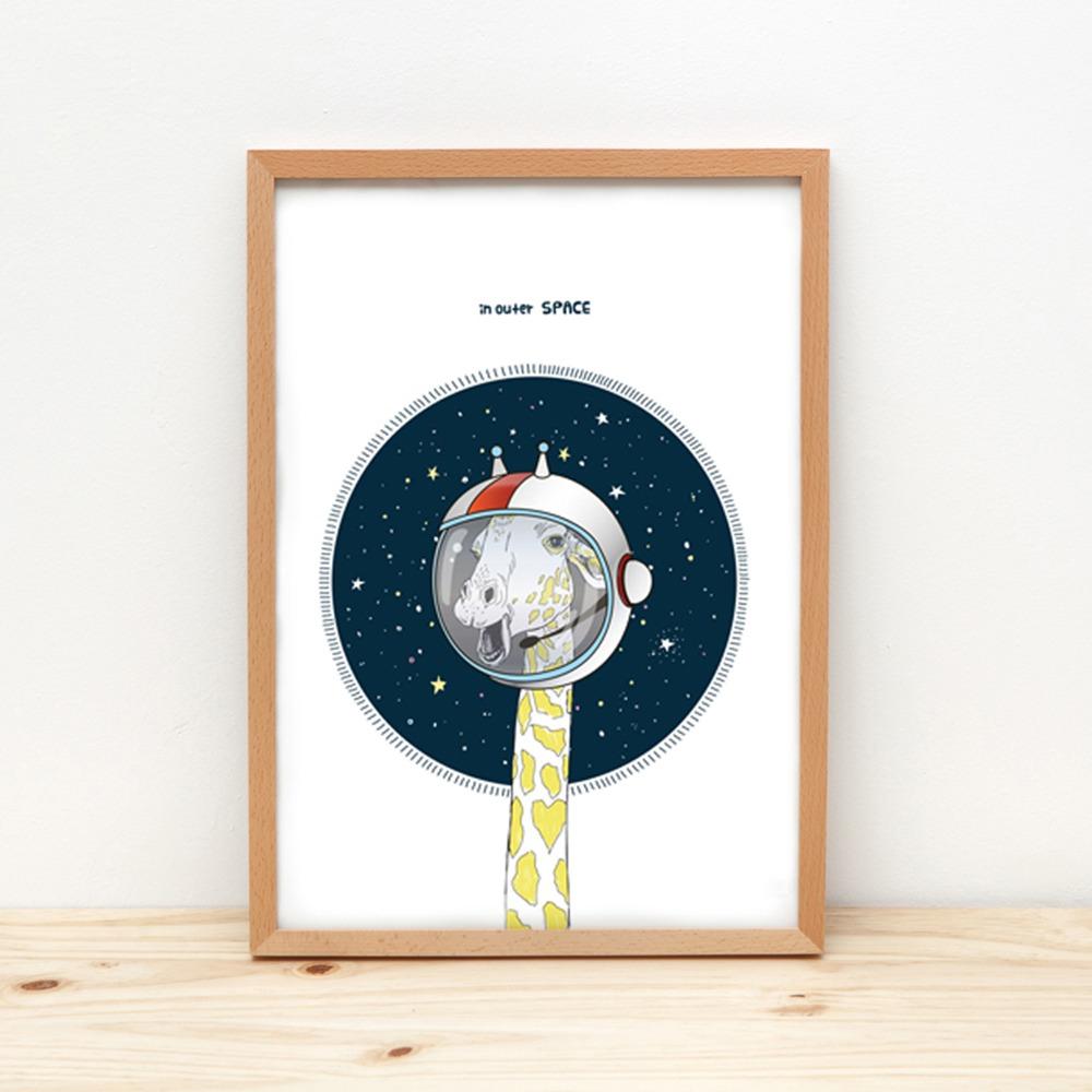 Space Girafe Poster