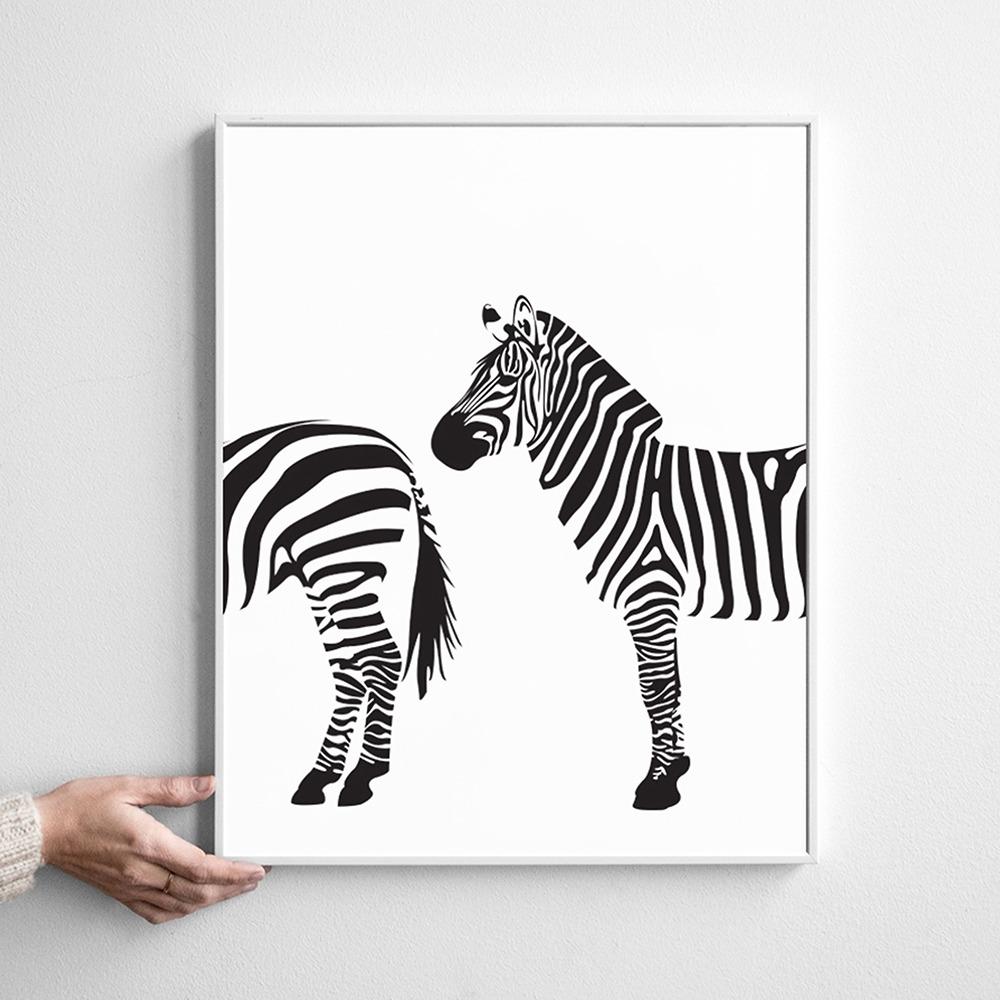 Two Zebra Poster